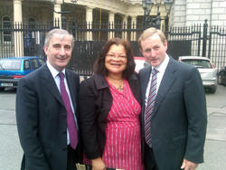 Gay Mitchell, MEP, Dr Alveda King, Enda Kenny, TD Leader of Fine Gael